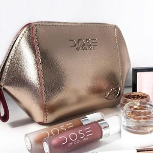 🌹Dose of Colors Rose Gold Makeup Bag